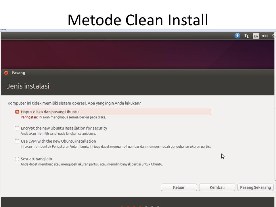 Metode Clean Install