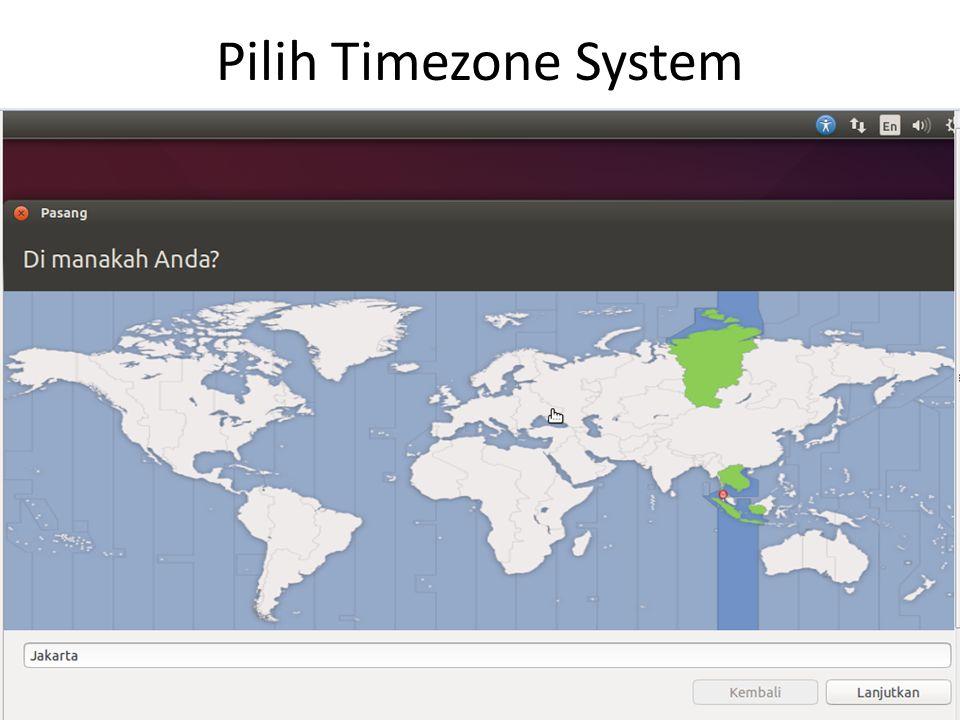 Pilih Timezone System