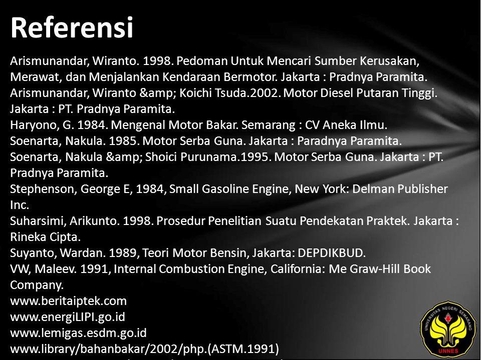 Referensi Arismunandar, Wiranto. 1998.