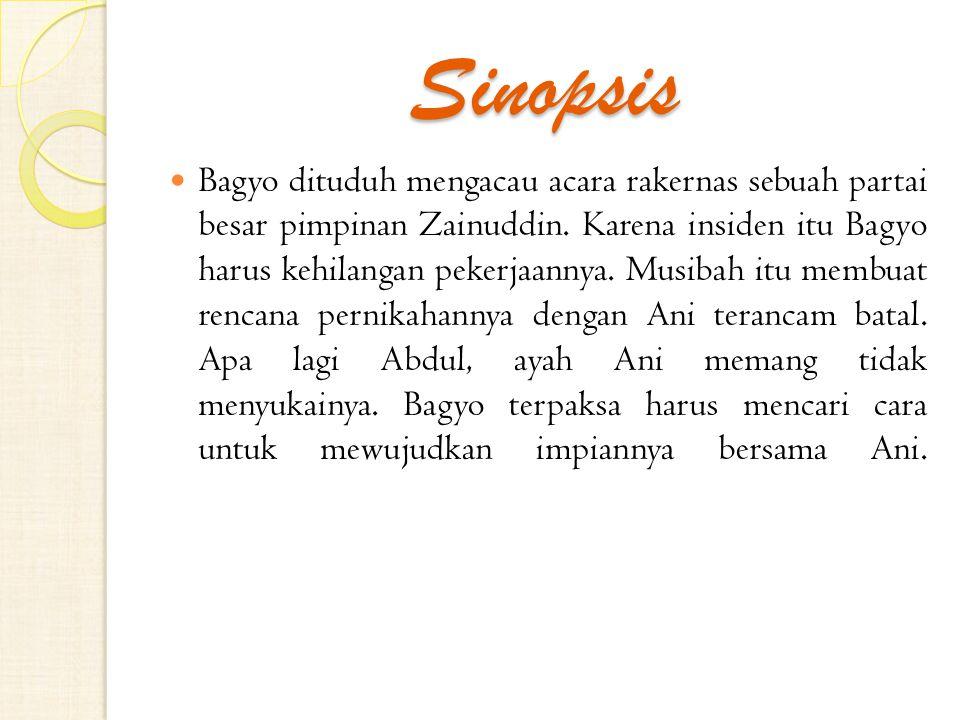 Sinopsis Bagyo dituduh mengacau acara rakernas sebuah partai besar pimpinan Zainuddin.