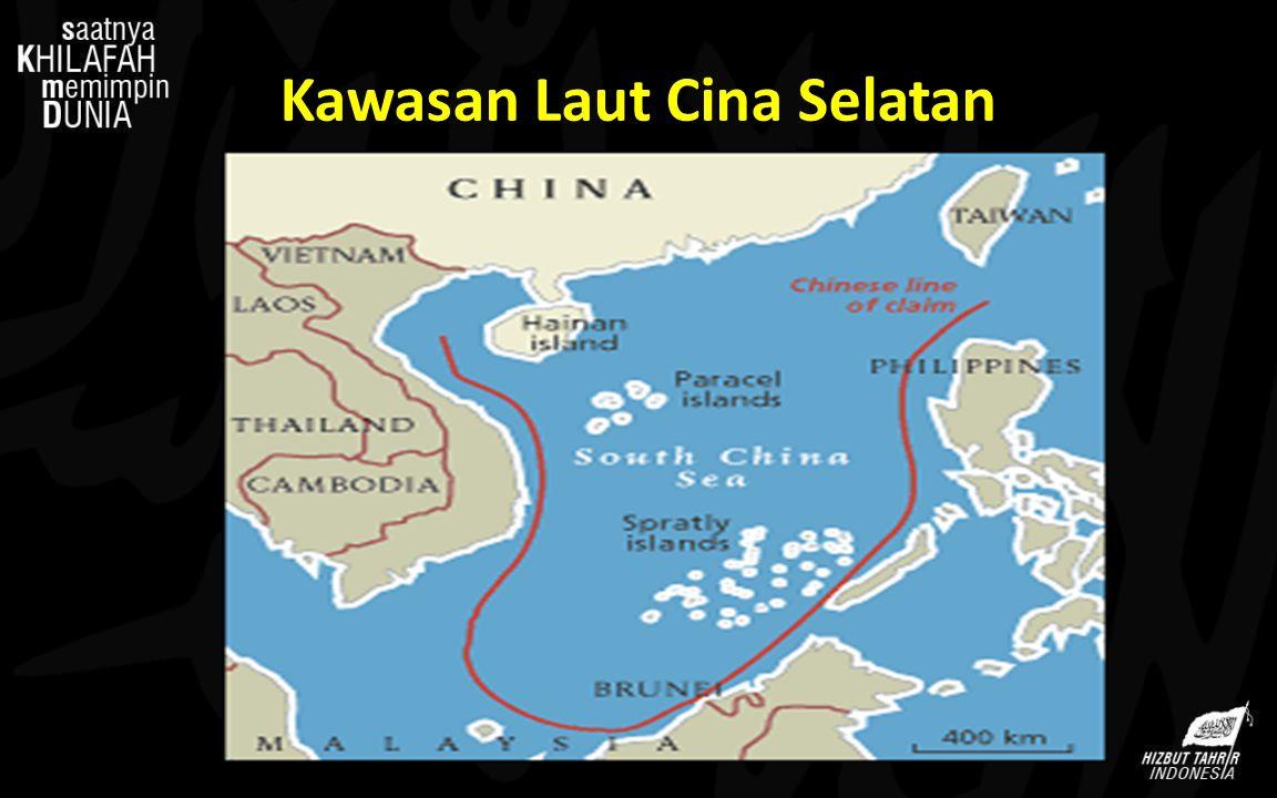Konflik Kawasan Laut Cina Selatan Proxy War (Perang Kepanjangan Tangan) AS - Cina SEVEN SISTERS, yaitu Shell, British Petroleum, Gulf, Texaco, Exxon Mobil, dan Chevron PetroChina, CNOOC, dan Sinopec