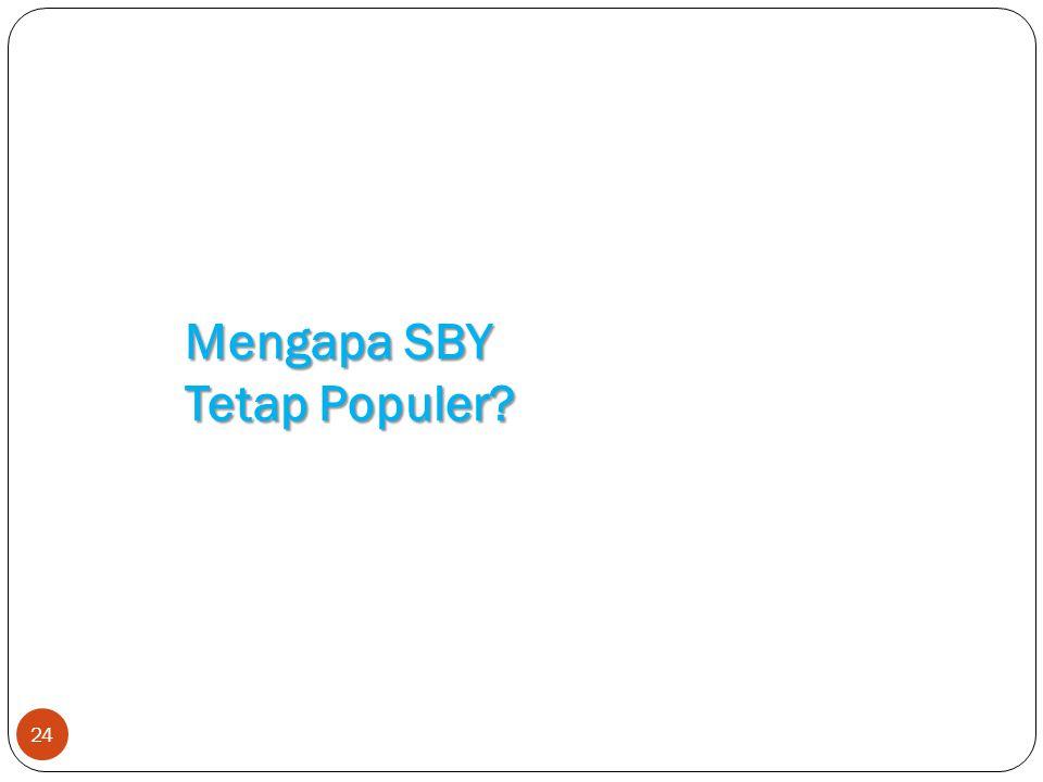 24 Mengapa SBY Tetap Populer