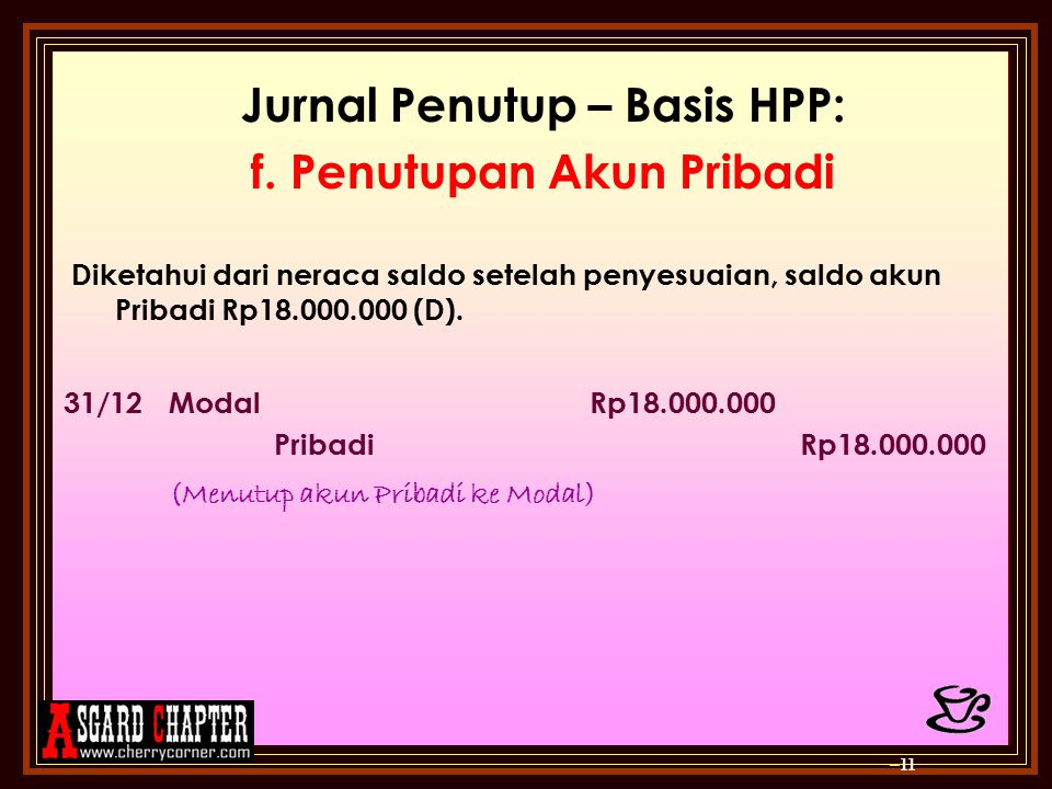 Jurnal Penutup – Basis HPP: f.