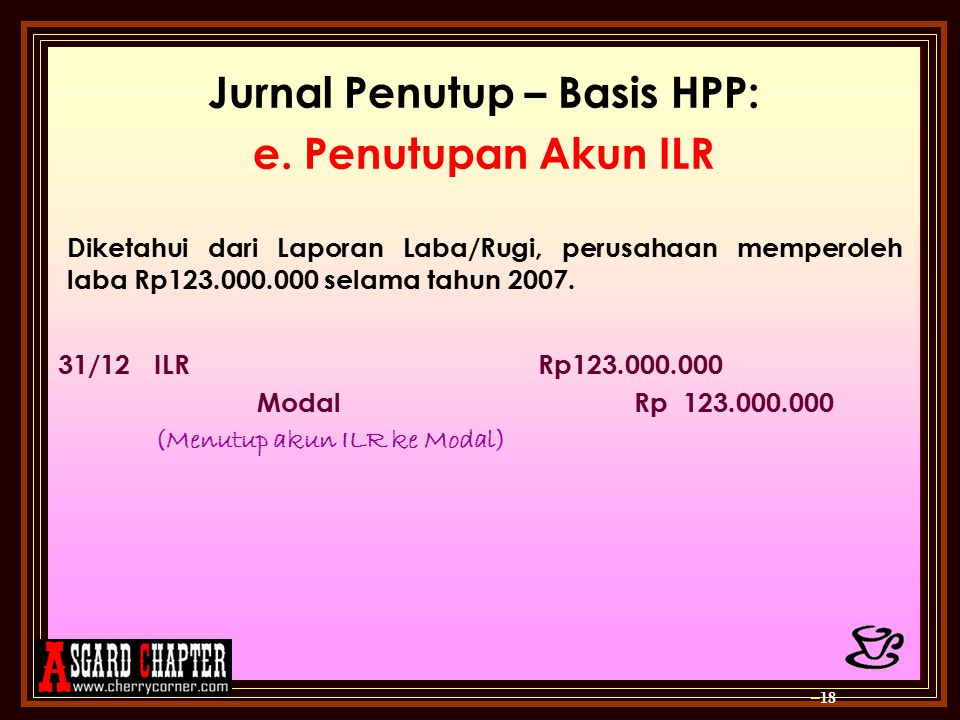 Jurnal Penutup – Basis HPP: e.