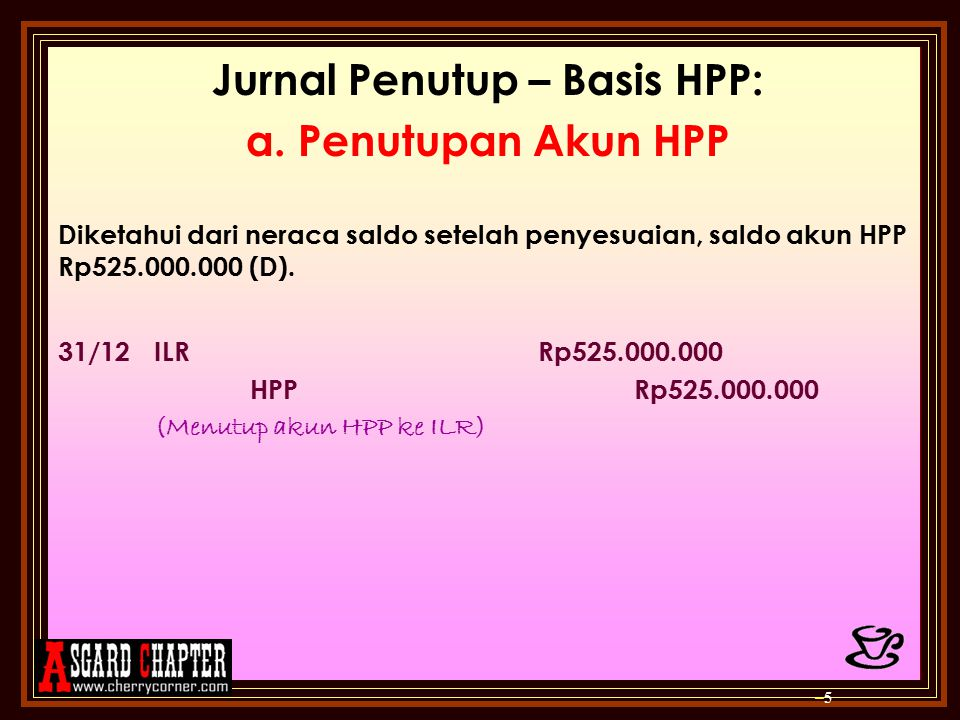 Jurnal Penutup – Basis HPP: a.