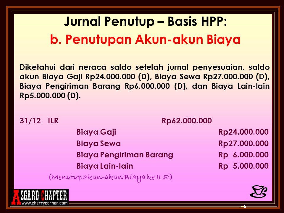 Jurnal Penutup – Basis HPP: c.