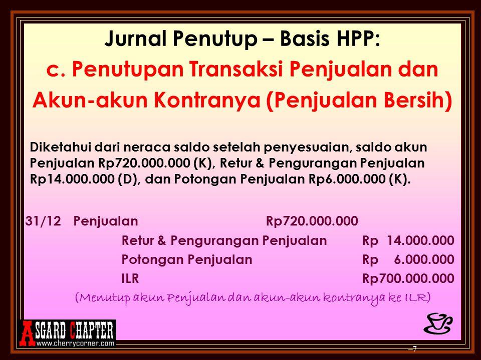 Jurnal Penutup – Basis HPP: e.