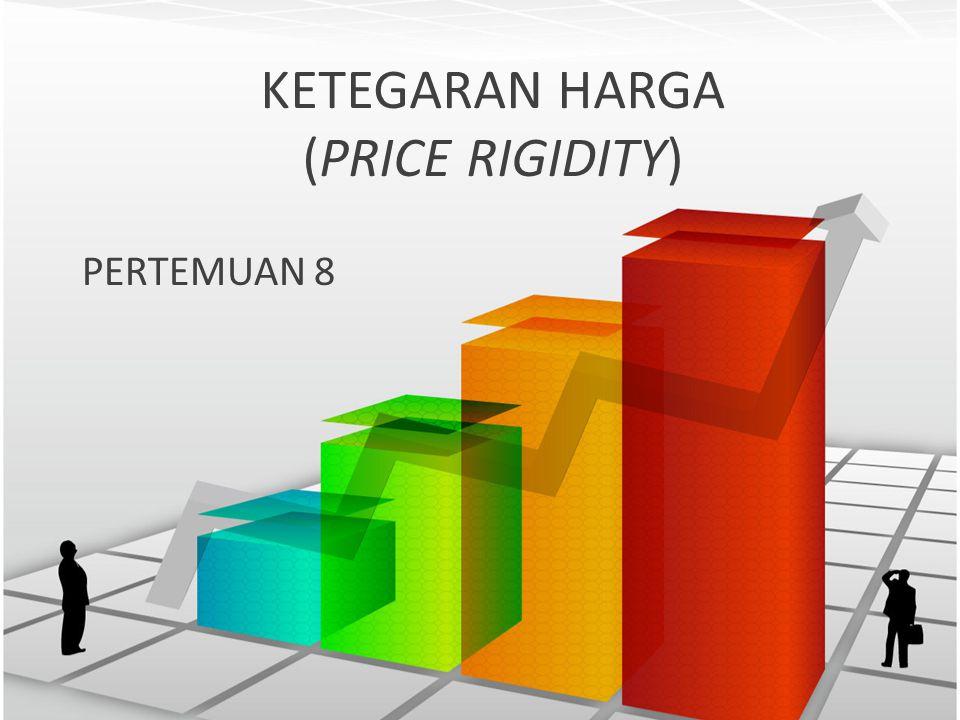 KETEGARAN HARGA (PRICE RIGIDITY) PERTEMUAN 8