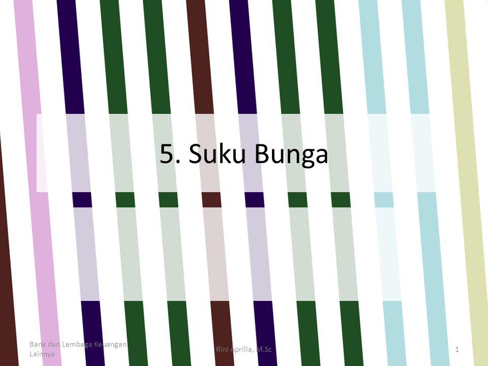 5. Suku Bunga Bank dan Lembaga Keuangan Lainnya Rini Aprilia, M.Sc1