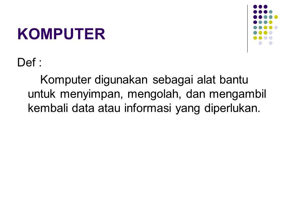 Berbagai Aktivitas Kehidupan Manusia dengan Menggunakan Komputer : 1.