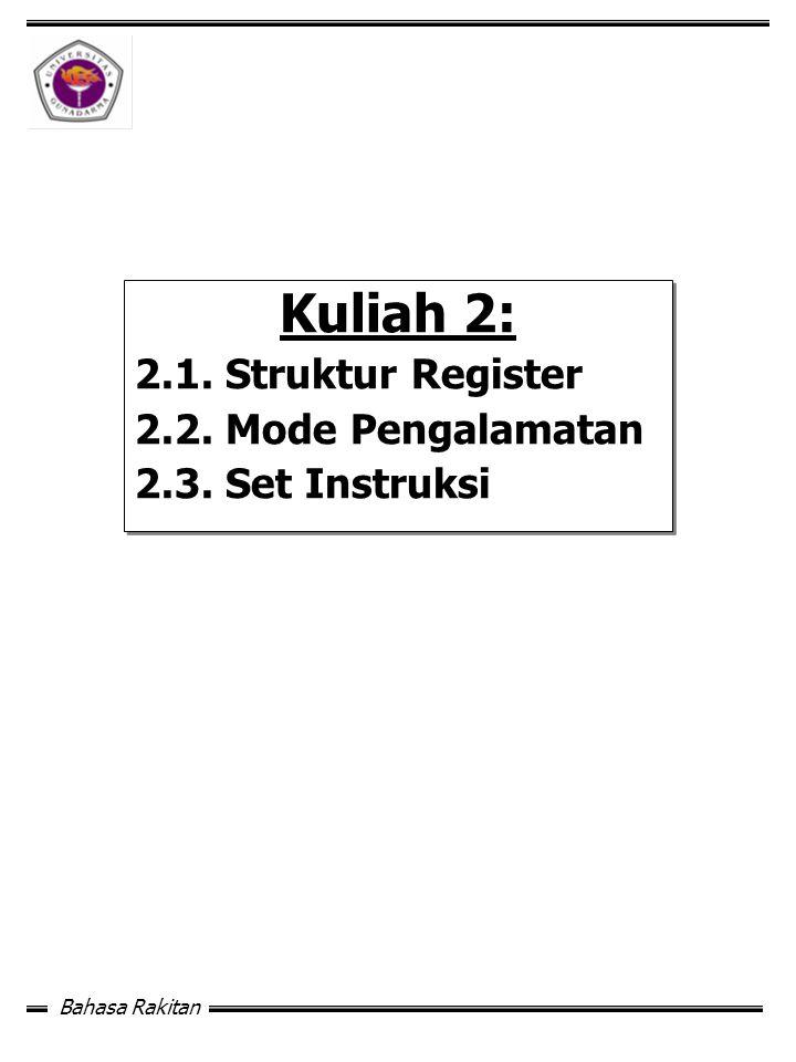 Bahasa Rakitan Kuliah 2: 2.1.Struktur Register 2.2.