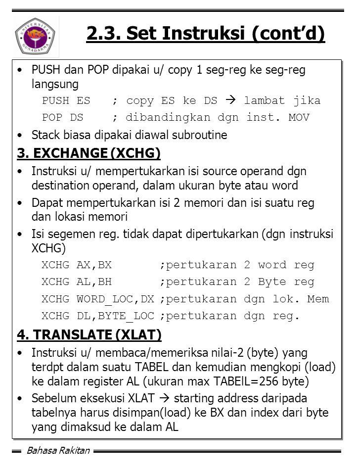 Bahasa Rakitan 2.3.