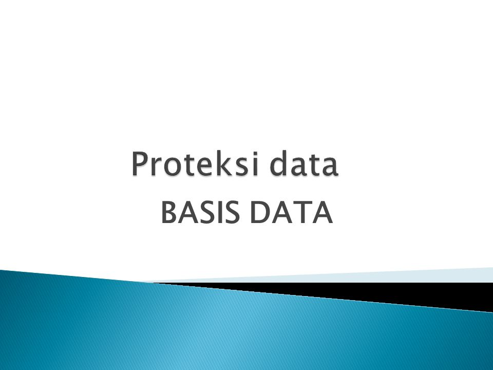  COMMIT untuk menyetujui perubahan data secara permanen dan sekaligus membawa ke keadaan akhir  ROLLBACK untyuk membatalkan pengubahan data dan sekaligus membawa ke keadaan akhir.