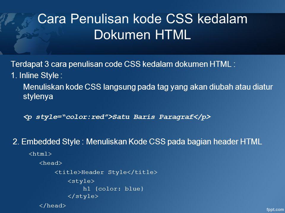 PADDING Padding adalah area kosong yang mengelilingi sebuah elemen HTML dan memberikan jarak antara Content dengan Border.