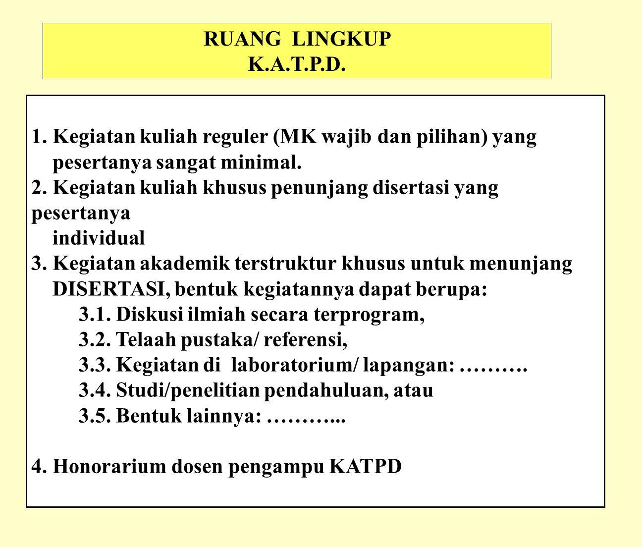 RUANG LINGKUP K.A.T.P.D.1.