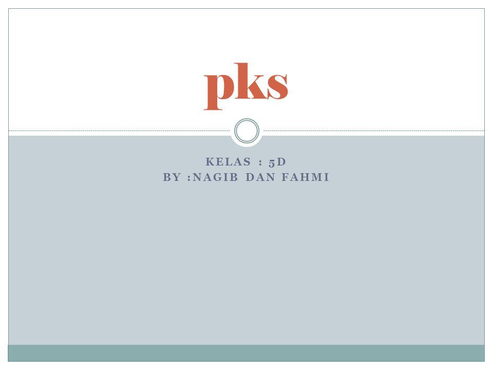 KELAS : 5D BY :NAGIB DAN FAHMI pks
