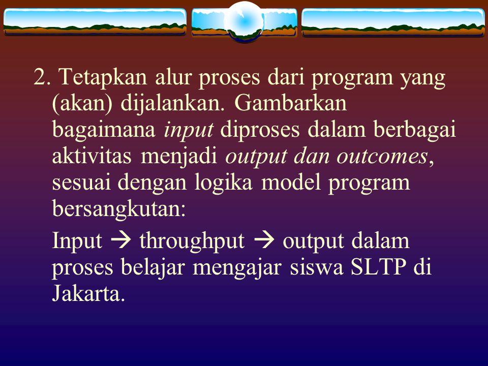 3.Tetapkan Indikator Kinerja Indikator sangat berkaitan dengan misi atau tujuan yang spesifik.