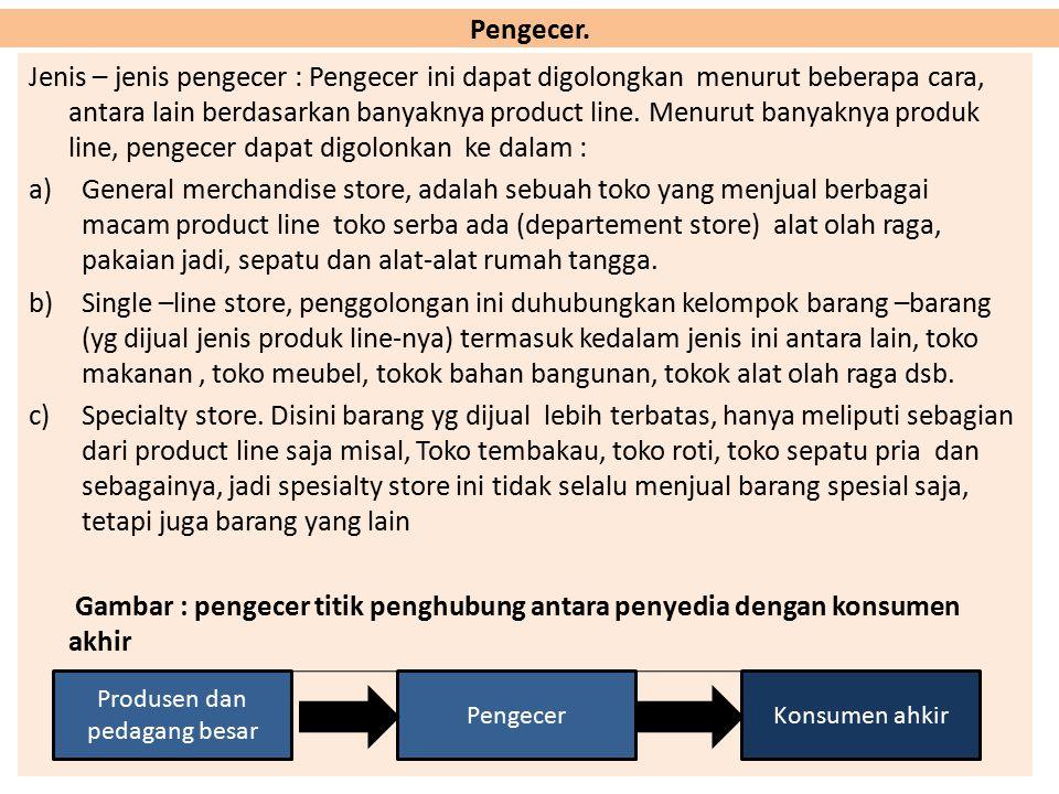  Saluran Distribusi Ganda: Ada beberapa masalah yang harus dipertimbangkan dalam pemilihan saluran distribusi, faktor-faktor tersebut antara lain : 1
