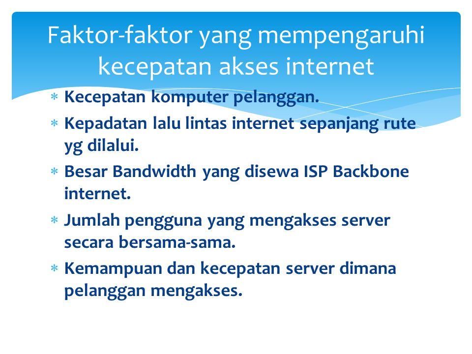 Bandwidth adalah lebar saluran data yang dilewati secara bersama-sama oleh data-data yang di transfer.