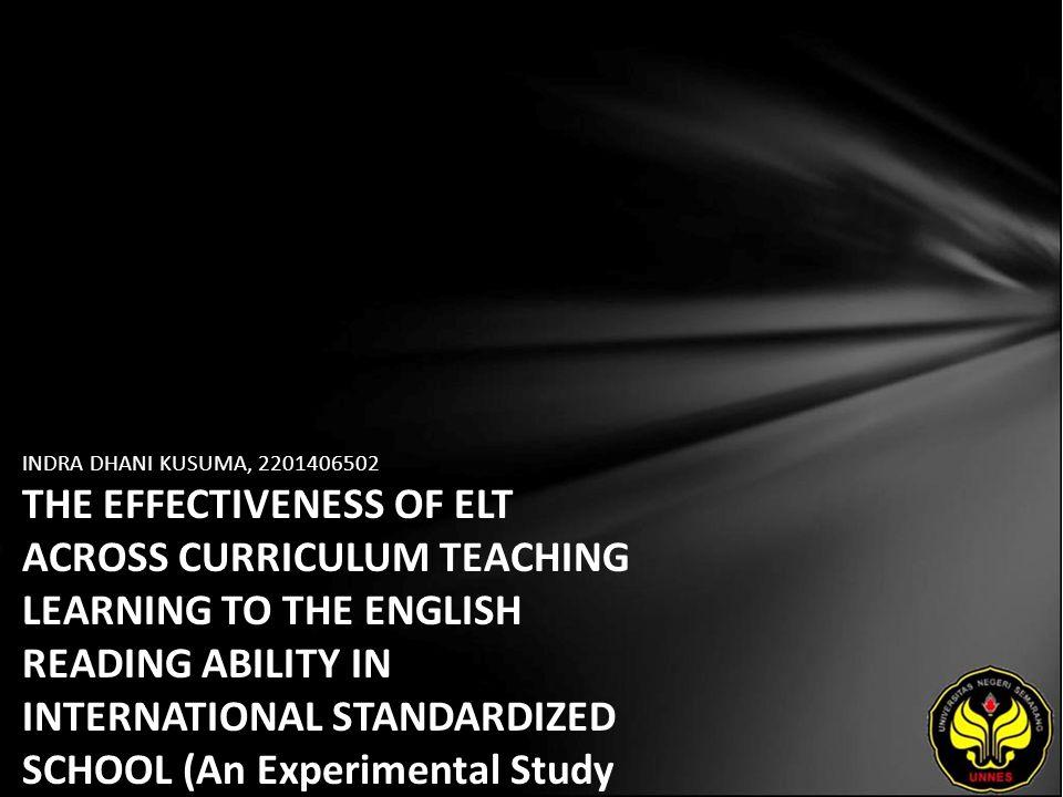 Identitas Mahasiswa - NAMA : INDRA DHANI KUSUMA - NIM : 2201406502 - PRODI : Pendidikan Bahasa Inggris - JURUSAN : BAHASA & SASTRA INGGRIS - FAKULTAS : Bahasa dan Seni - EMAIL : weazly_danny pada domain yahoo.com - PEMBIMBING 1 : Dr.