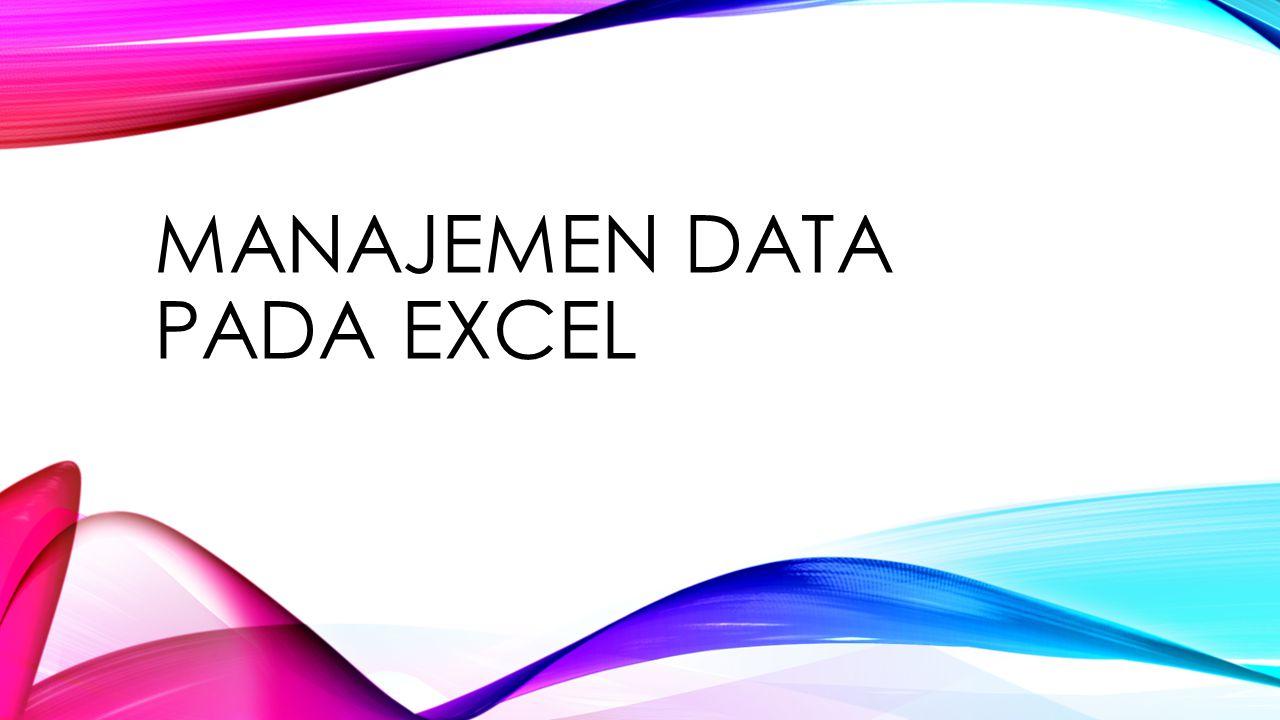 SORT Perhatikan bahwa tampilan data berubah sesuai dengan urutan tanggal lahir terlampau ke terkini.
