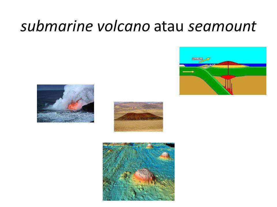 submarine volcano atau seamount