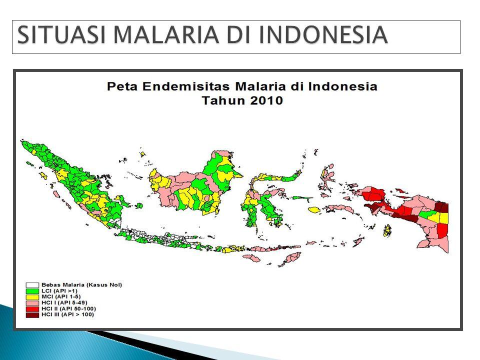  Mengingat jangkauan unit-unit kesehatan di luar Jawa/Bali masih sangat terbatas  diperkirakan jumlah kasus malaria yang sebenarnya jauh melampaui j