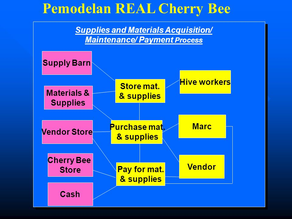 APB 2 edisi 249 Pemodelan REAL Cherry Bee Hire workers Pay workers Cash Cherry Bee Store Human Labor Hive Workers Marc Labor Acquisition/Maintenance/ Payment Process
