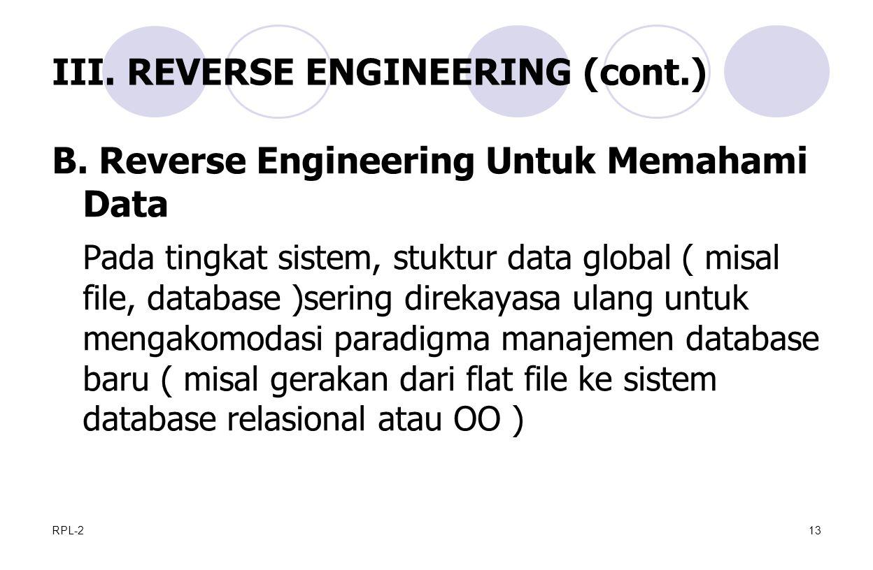 RPL-213 III.REVERSE ENGINEERING (cont.) B.