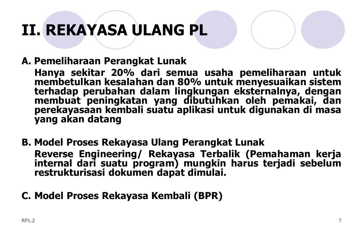 RPL-27 II.REKAYASA ULANG PL A.