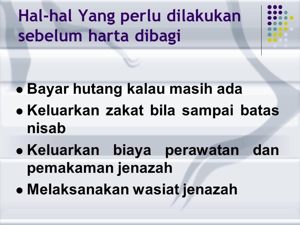 Yang mendapat bagian Tsumun ( 1/8 ) Istri apabila meninggalkan anak laki- laki atau perempuan atau cucu perempuan atau cucu laki-laki maupun perempuan