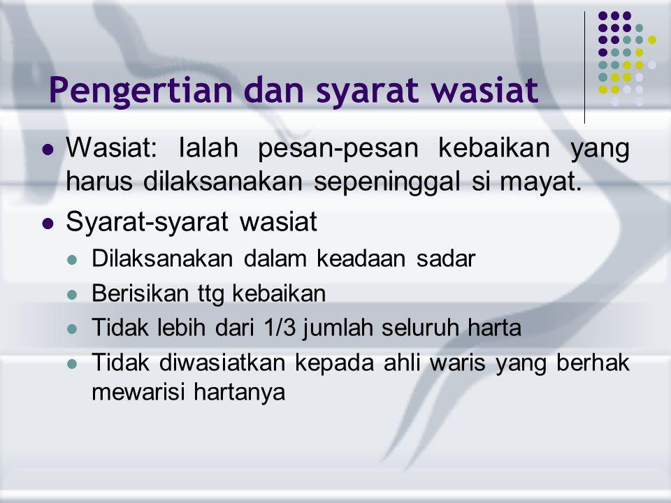 Mawani'ul Irtsi >ialah hal-hal yang menyebabkan hilangnya hak waris 1.