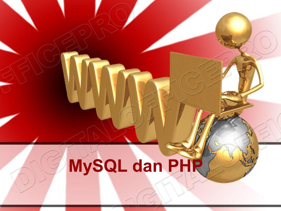 Query MySQL Dengan PHP Langkah : 1.Membuka koneksi ke MySQL server 2.Memilih database yang akan dipergunakan 3.Membuat query string 4.Menjalankan query 5.Mengambil hasil dan menampilkannya 6.Ulangi langkah 3-5 sampai semua data diambil 7.Menutup koneksi ke MySQL server