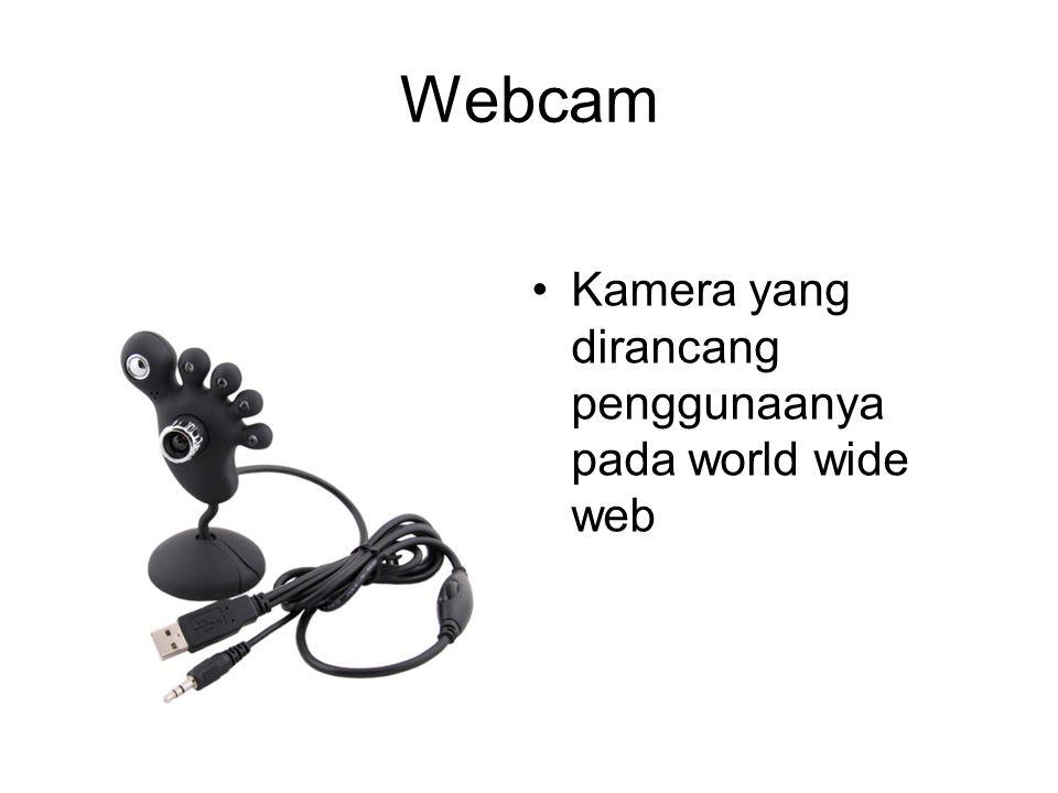 Webcam Kamera yang dirancang penggunaanya pada world wide web
