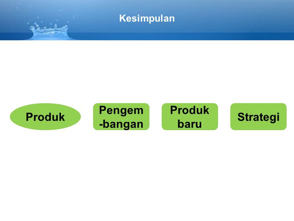 Kesimpulan Produk Pengem -bangan Produk baru Strategi