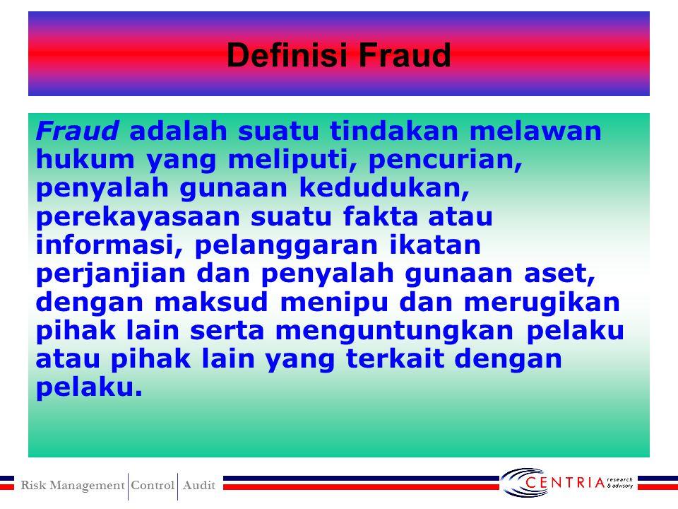 Risk Management Control Audit Fraud (Kecurangan)