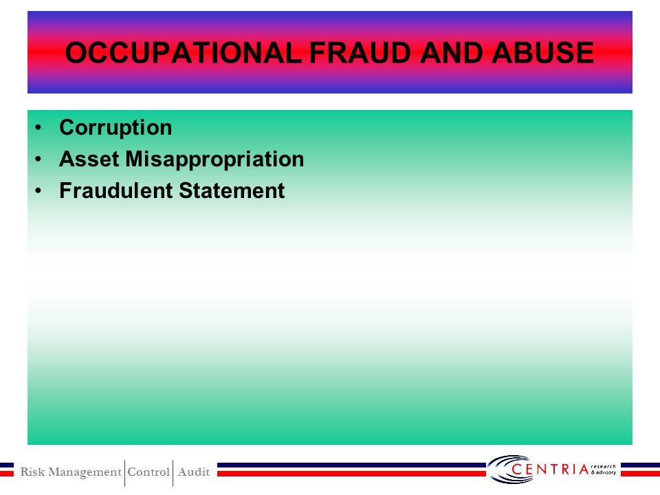 Risk Management Control Audit TANDA-TANDA ADANYA FRAUD Fraud auditor harus jeli melihat tanda-tanda: Ada selisih antara saldo-saldo tahun ini dan sebe