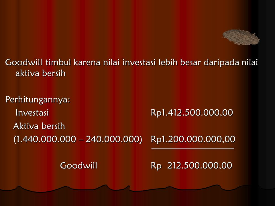 Ayat Jurnal: Investasi pada PT.
