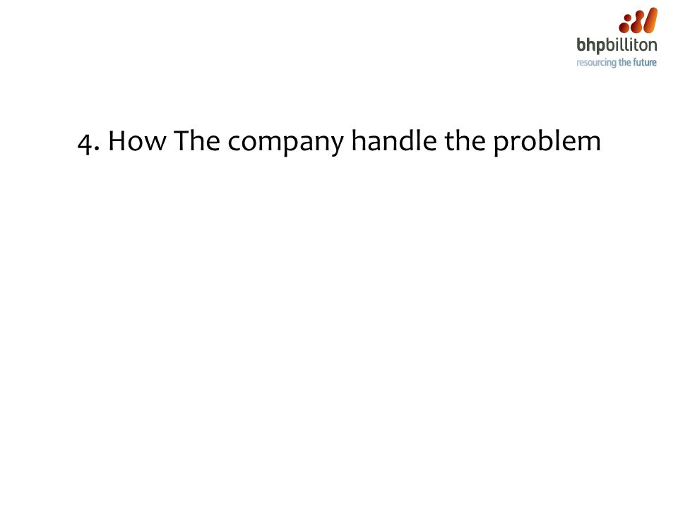4. How The company handle the problem