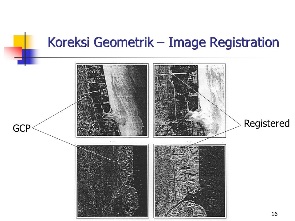 16 Koreksi Geometrik – Image Registration GCP Registered