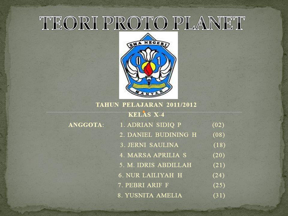 TAHUN PELAJARAN 2011/2012 KELAS X-4 ANGGOTA: 1. ADRIAN SIDIQ P(02) 2.
