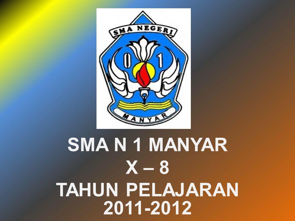 SMA N 1 MANYAR X – 8 TAHUN PELAJARAN 2011-2012