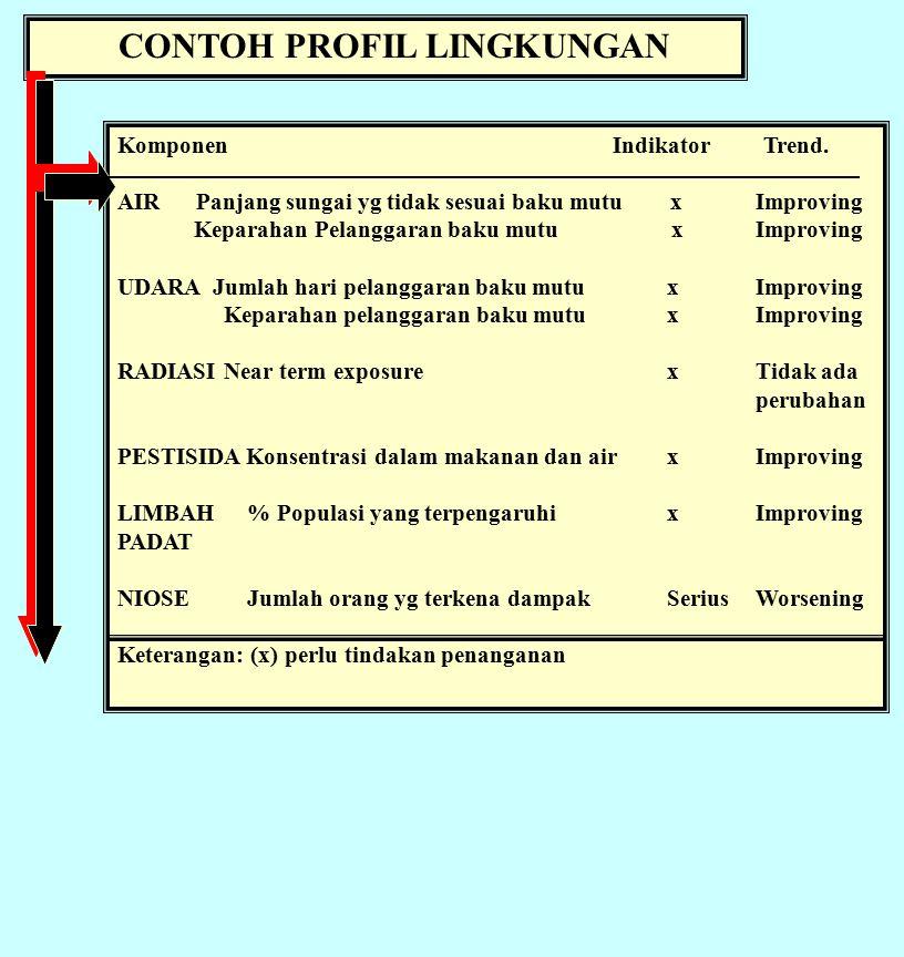 CONTOH PROFIL LINGKUNGAN Komponen Indikator Trend.