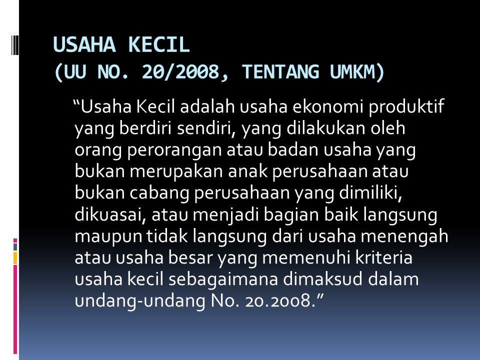 PROFIL PERUSAHAAN KECIL INDONESIA DARI SEGI KEUANGAN 1.