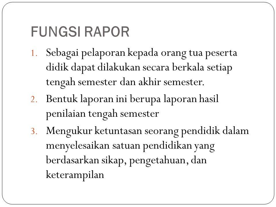 FUNGSI RAPOR 1.