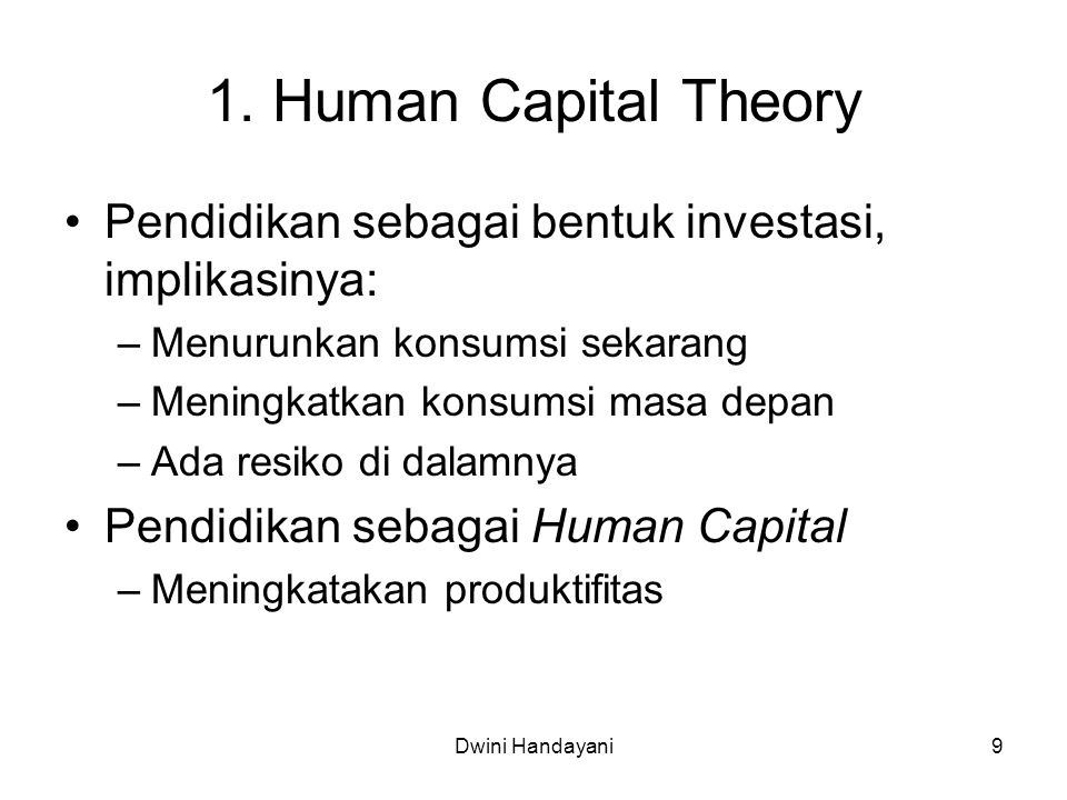 20 Demand and Supply for Human Capital Investment Apa yang menentukan Demand dan Supply .