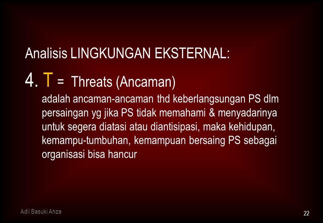 Analisis LINGKUNGAN EKSTERNAL: 4.