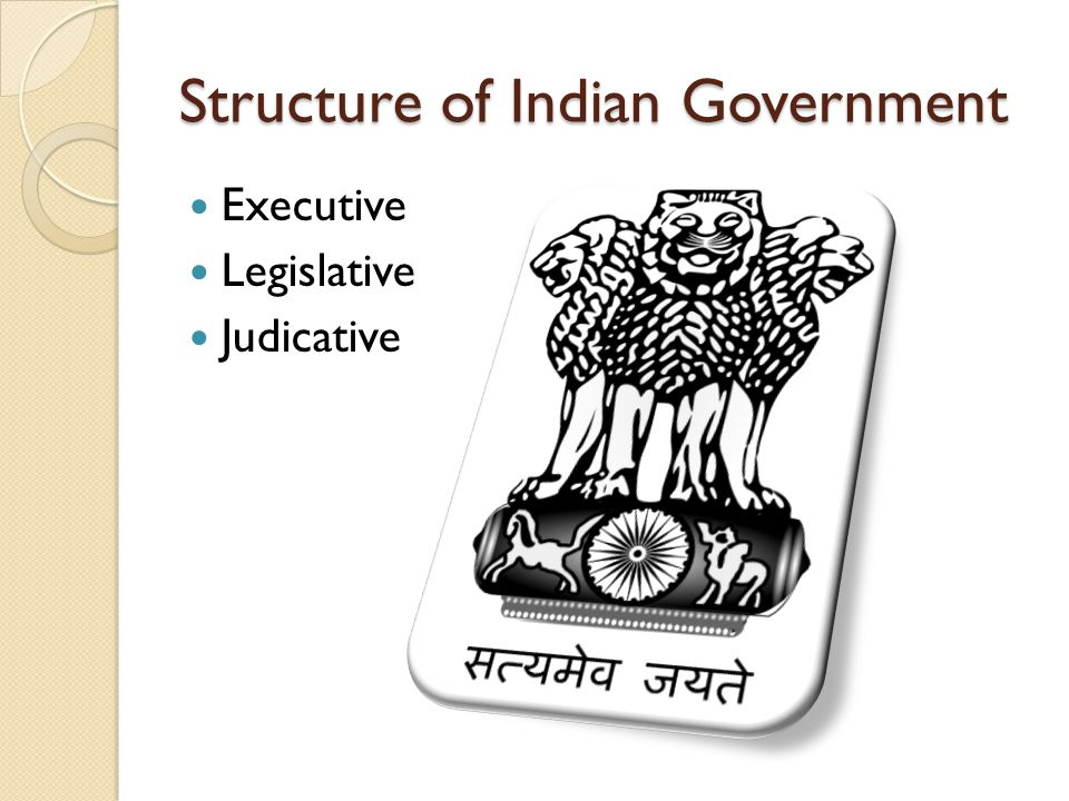 Structure of Indian Government Executive Legislative Judicative