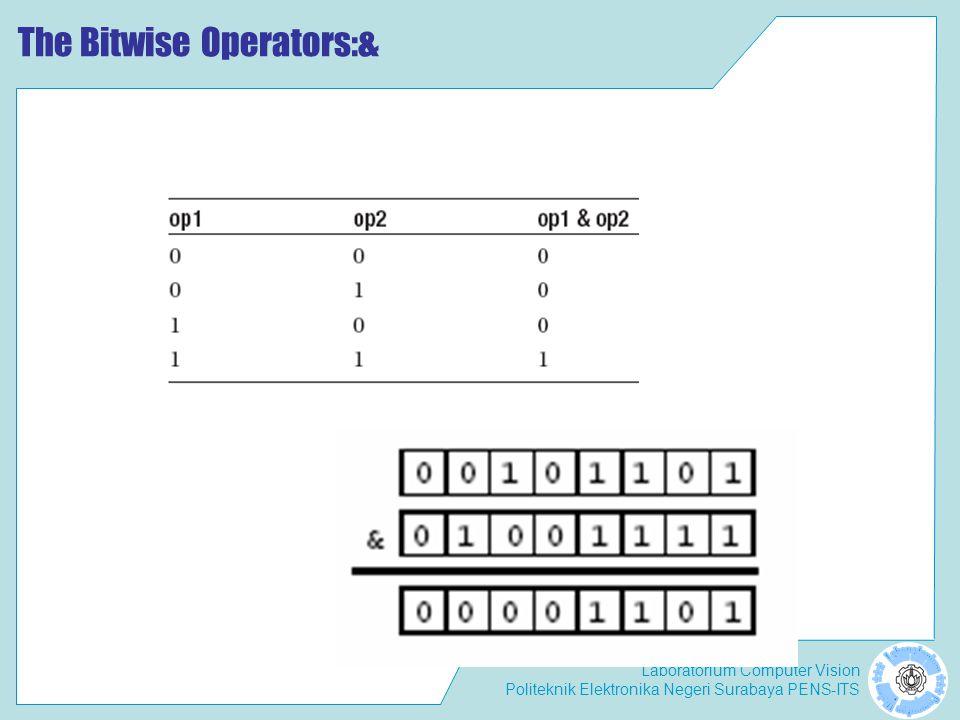 Laboratorium Computer Vision Politeknik Elektronika Negeri Surabaya PENS-ITS The Bitwise Operators:&
