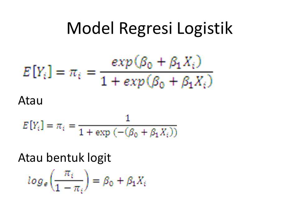 Model Regresi Logistik Atau Atau bentuk logit